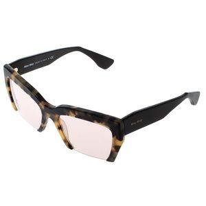 Miu Miu Tortiseshell Raisor half rim sunglasses